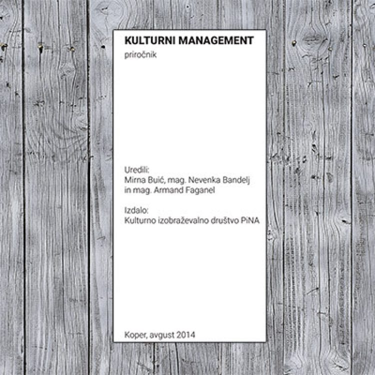 Cultural management: Handbook